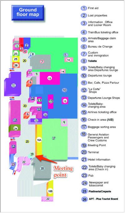 Map Pisa Airport Travel information